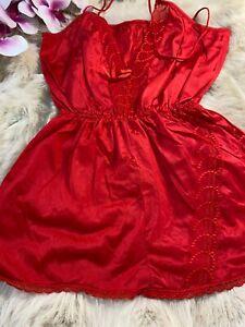 Nice red Camisole Top sleepwear nightwear size us38 eu85 it5