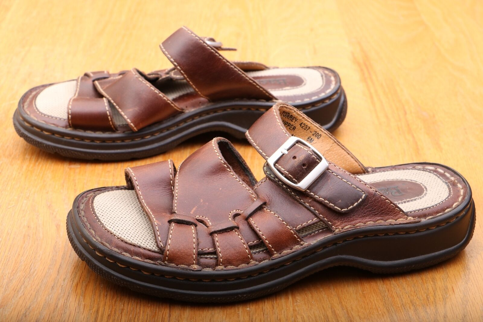Bass Brown Buckle Sandals Loafers Men's Size 6 M