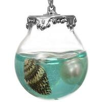 Pearl And Sea Shell Conch In A Bottle Pendant Necklace Hot Fashion Jewelry