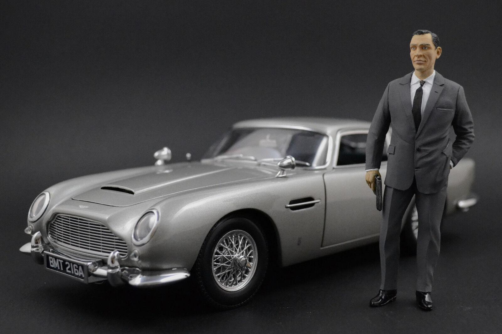 Sean Connery James Bond Figure pour 1:18 AUTOart Aston Martin DB5 DBS Vanquish