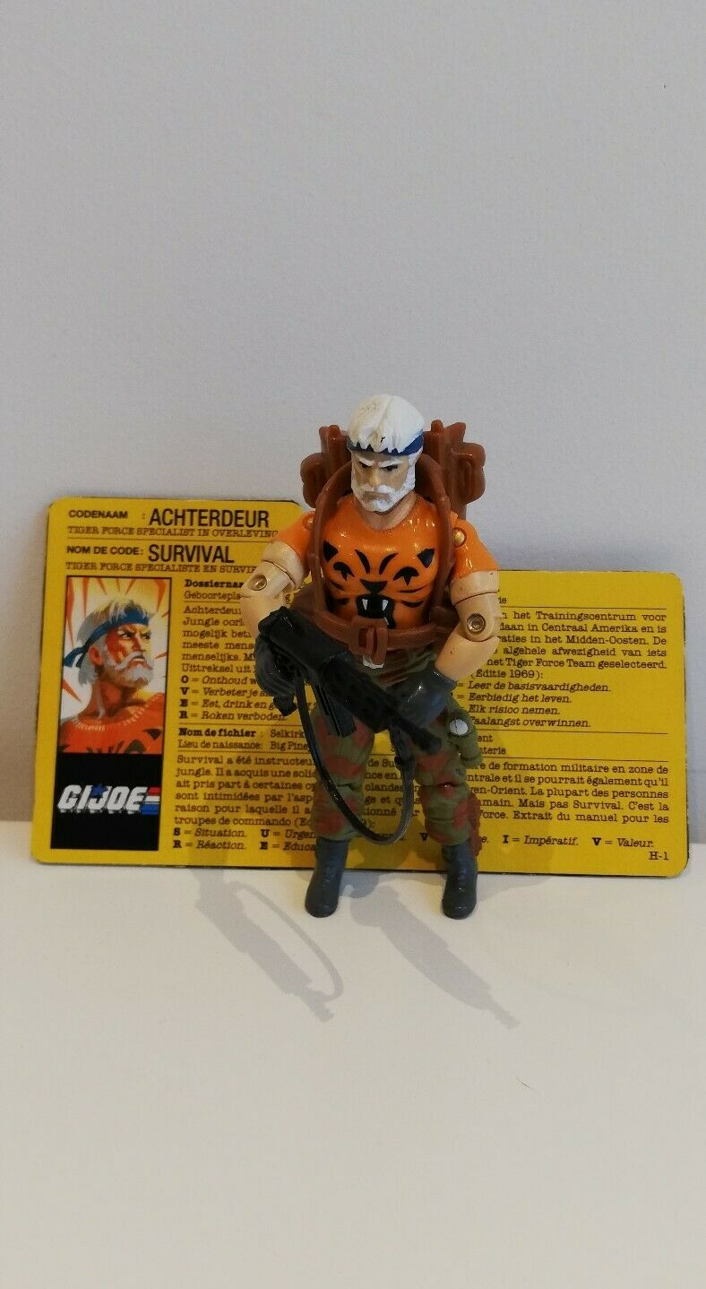 GI JOE TIGER FORCE OUTBACK 1988 WITH FILE CARD NETHERLANDS 100% COMPLETE