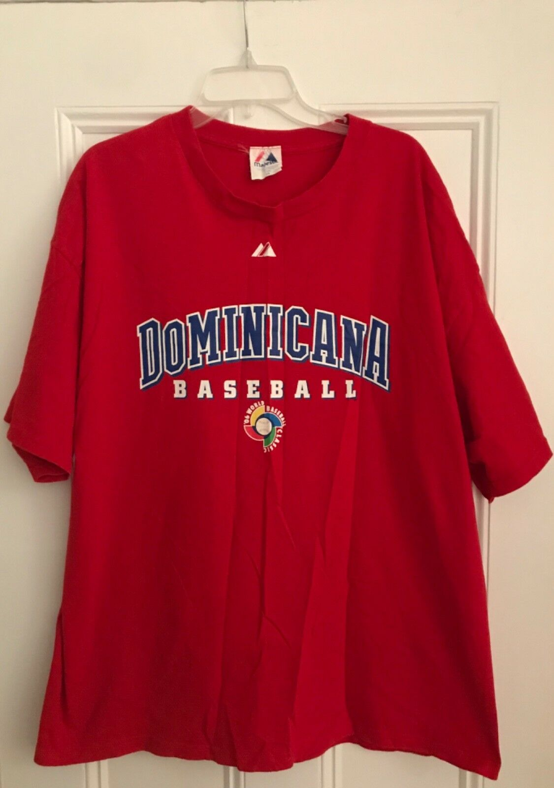 Authentic Majestic Dominicana Baseball 2006 World Classic David Ortiz t-shirt 2X