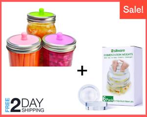 Fermentation-Kit-6-Pcs-Fermentation-Weight-6-Pcs-Lids-for-Wide-Mouth-Mason-Jar
