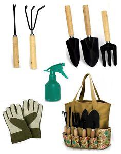 Garden Tools Set - 8 Piece Heavy Duty Gardening Kit with Storage Organizer