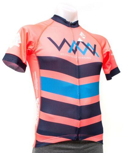 Panache Wednesday matin Velo Manches Courtes Jersey Hommes Medium Rose route Mountain Bike Vélo