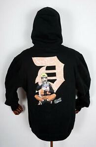 Primitive Skateboards Hooded Hoodie Naruto Shippuden Ichiraku Dirty P Black in M