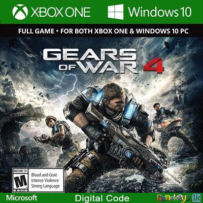 Gears of War 4 Xbox One / PC Key Code Region Free Win 10 (No CD/DVD) | eBay