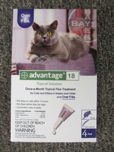 Advantage for Cats Over 9 lbs Purple (4-Pack)