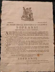 1798-MILANO-PROCLAMA-REPUBBLICA-CISALPINA-SU-COCCARDE-DELL-039-INFANTE-DUCA-DI-PARMA