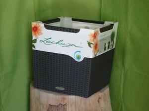 lechuza blumentopf pflanzgef cube cottage 40 granit. Black Bedroom Furniture Sets. Home Design Ideas