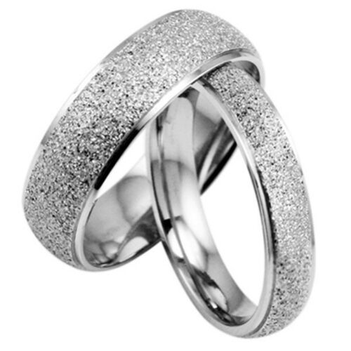 JZ038 Fashion Fine frosted Titanium Steel Ring Lover Wedding gift