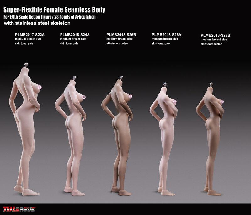 Phicen da Donna senza senza senza Cuciture da Donna Medio Busto Corpo Suntan 1 6 S27b 457bd6