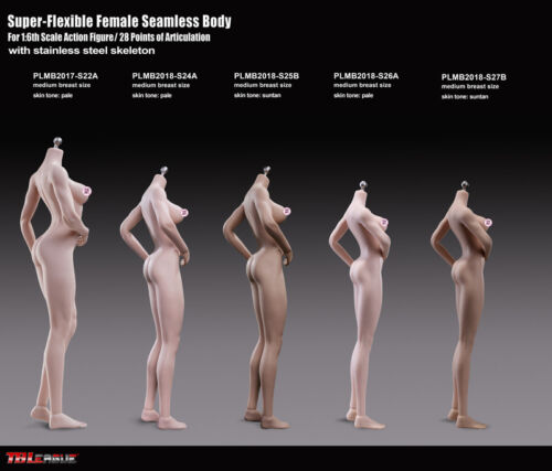 TBLeague Phicen Female Seamless Female Medium Bust Body Pale 1//6 S26A