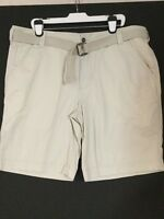 Men Mossimo Beige/tan Flat Front Belted Shorts W42