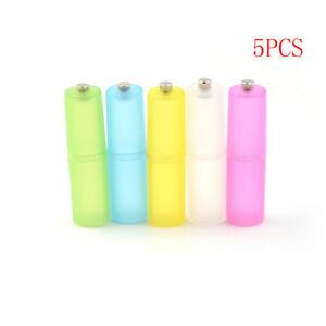 5Pcs-AAA-to-AA-Size-Cell-Battery-box-Converter-Adapter-Batteries-Holder-Case-CF