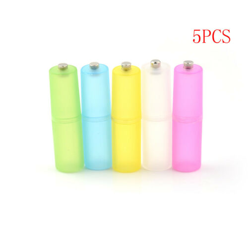 5Pcs AAA to AA Size Cell Battery box Converter Adapter Batteries Holder Case  JB