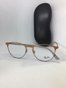 5263caa4568 New Authentic Ray Ban RB 6375 2949 Grey Orange Eyeglasses 53mm