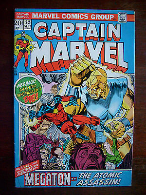 Captain Marvel #22 (Sep 1972, Marvel) Sharp Glossy Appearance Bronze Age 6.0 FN