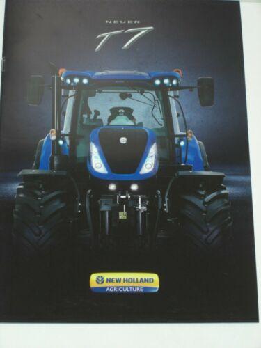NEW HOLLAND T7 Traktoren Prospekt von 06//2015 NH 36