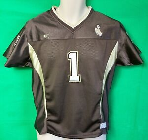 new styles f3cf6 ddf9a Details about J164 NCAA University of Wyoming Cowboys Football Colosseum  Jersey Youth XL