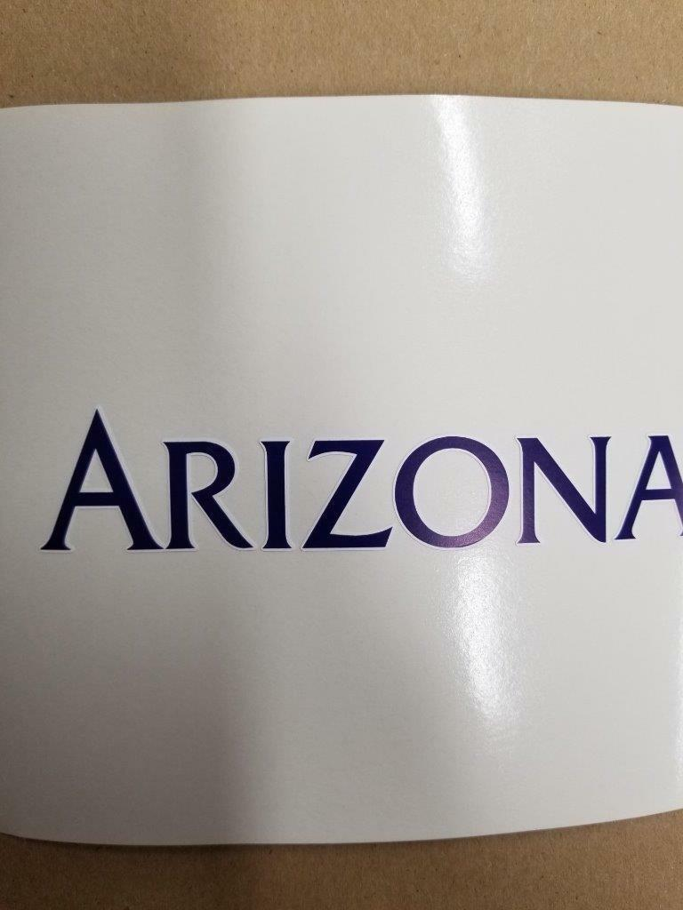 Arizona  Wildcats cornhole board or vehicle decal(s)AW1  simple and generous design