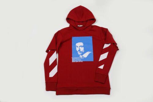 Felpa Manica Stampata Doppia Con Cappuccio Streetwear r4xrqT