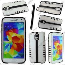 Coque Housse Etui TPU Demi Pliable Noir Samsung Galaxy S5 et S5 New+ Stylet