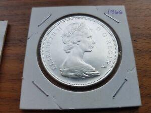 1966-Canada-Silver-One-dollar-Elizabeth-II