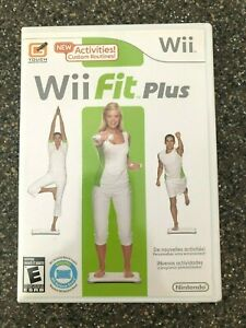 Wii-Fit-Plus-Nintendo-Wii-2009-Complete-w-Manual-Clean-amp-Tested-Free-Ship