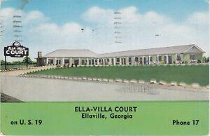 Ellaville-GA-Ella-Villa-Court-Exterior-and-Grounds-Signage-1954