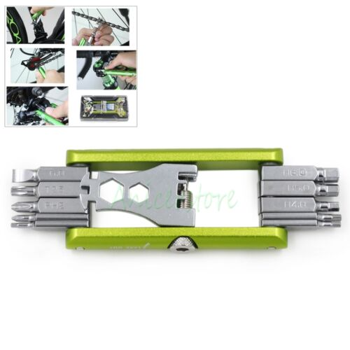 Folding 11 in 1 Bicycle Moutain Road Bike Screwdriver Wrenches Chain Repair Tool