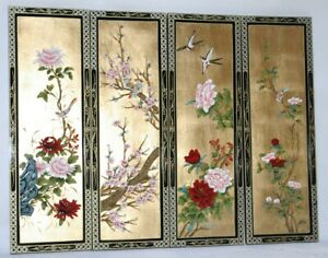 Oriental-Chinese-gold-leaves-with-lacquer-wall-plaques-wall-picture-gifts