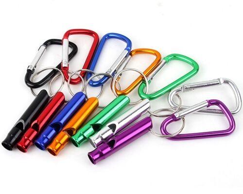 2Stk Whistle Whistle Keychain Clip Sicherheit Überleben Notfall Camping Wandern