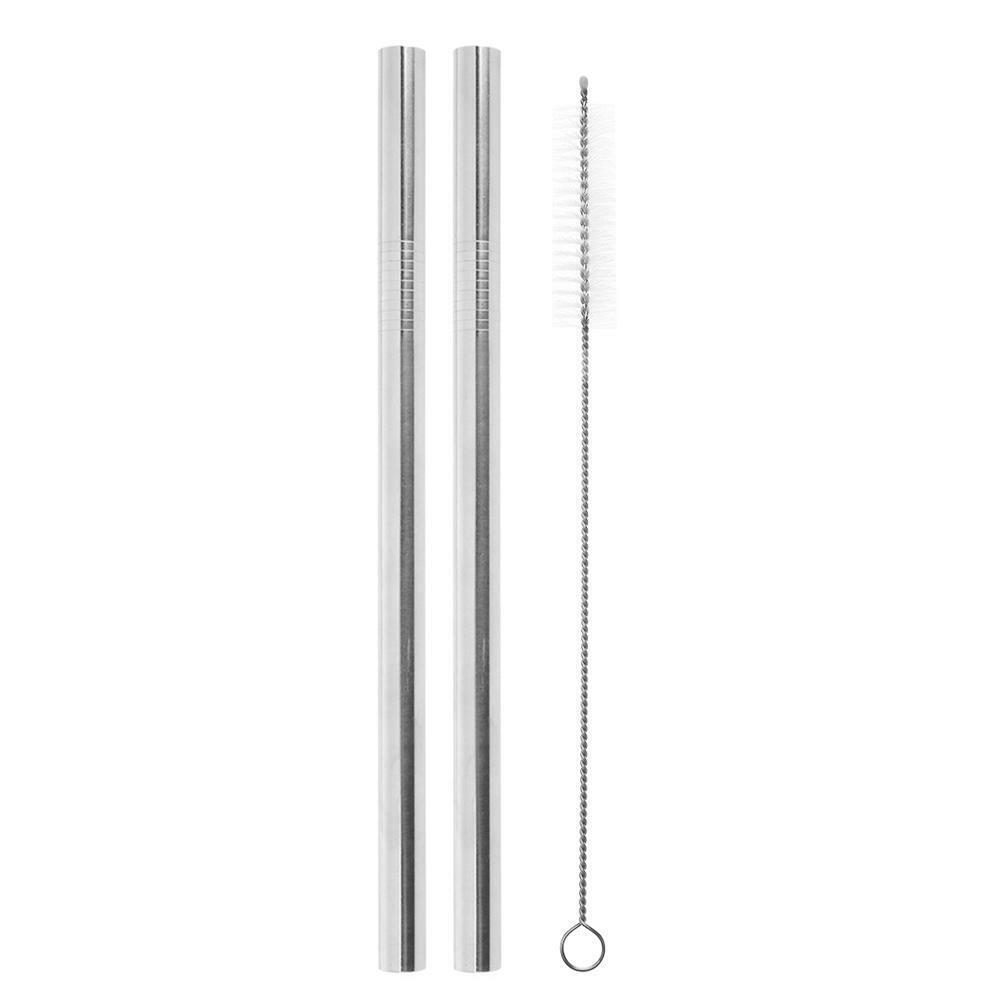 2pcs Straws 1pc Brush 18*12mm