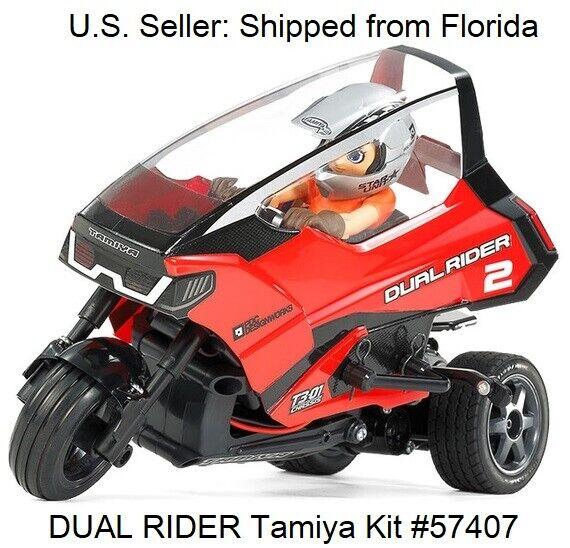 Chasis Doble Rider Trike T3-01 Motocicleta 1 8 escala Hobby Kit Radio Control Tamiya 57407