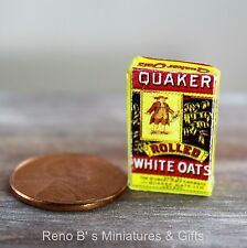 Dollhouse miniatures food 1:12 Quaker Rolled White Oats 1900s NEW