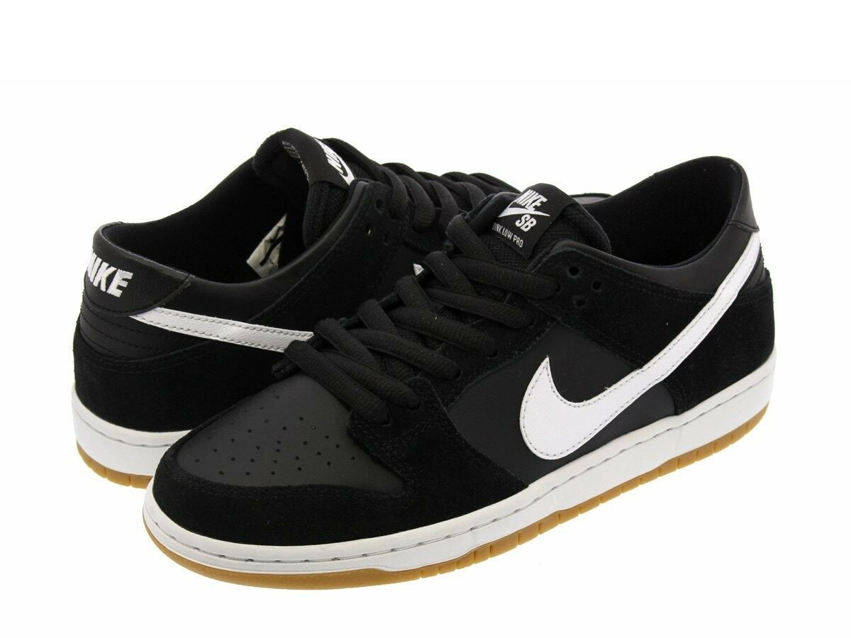 Nike SB Zoom Dunk Low Pro Black White Gum Lt Brown Sz 6.5