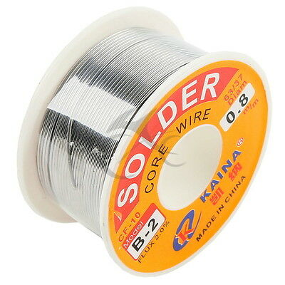 63/37 0.8mm Tin Lead Rosin Core Solder Flux Soldering Welding Iron Wire Reel New