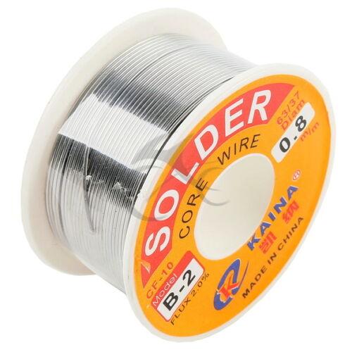 "2x 0.8mm 0.03/"" Tin Lead Soldering Wire Reel 63//37 Rosin Core Solder Flux Welding"