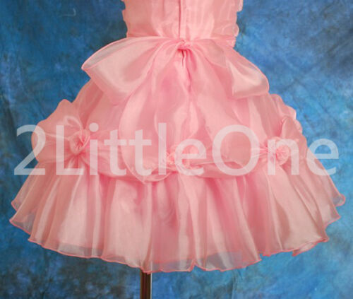 Promotion Pearls Off-Shoulder Dress Flower Girl Party Birthday Size 18mon-9 #029