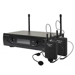 Proel-WM101DH-Microphone-sans-fil-UHF-bodypack-double-archet-deux-canali