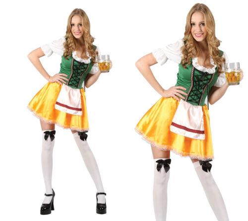 Beer Girl Oktoberfest Festival Ladies German Fancy Dress Costume 6//24