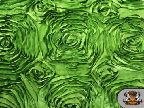 "Rosette Satin Fabric GREEN 54/"" Wide Sold by the yard"