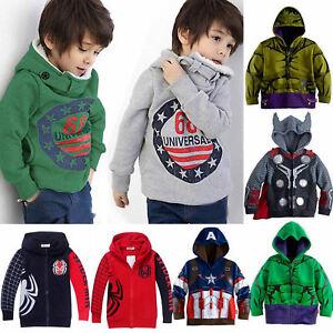 Kids-Girl-Boy-Long-Sleeve-Hoodies-Sweatshirt-Hooded-Pullover-Sweater-Jacket-Coat