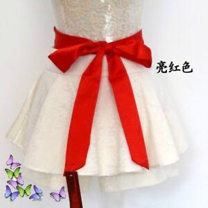 Classic-Satin-Silky-Sash-Belt-Corset-Self-Tie-Bowknot-Prom-Wedding-Dress-Riband
