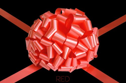 Red Large Big Bow Handmade to Order For Gift Present Car Bike Bus Various Sizes