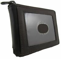 Paul & Taylor Men's Leather Zip Around Id Bifold Billfold Wallet