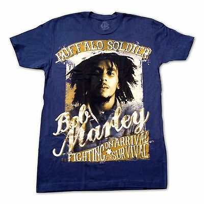 Bob Marley T-Shirt, Buffalo Soldier Fighting for Survival, NEW Reggae Tee