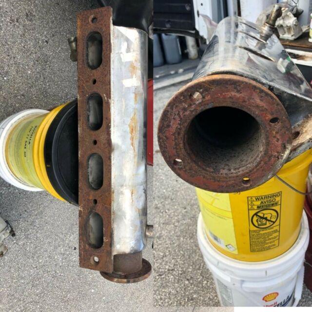 Detroit Diesel left bank exhaust manifold custom stainless steel  (8V71/8V92)Used