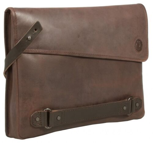 Brown Leather Mens Clutch// Uberbag Insignia Trendy Ipad tablet case.RRP £129